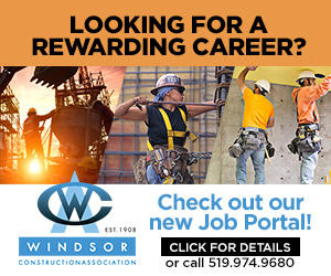 Windsor Construction Association. Looking for a rewarding career? Check out our new job portal! Click for details, or call 519-974-9680.