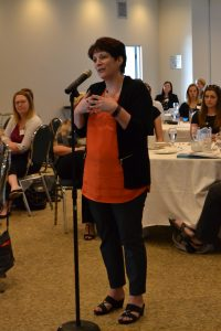 Question at the mic at the Positioning Women for Success Project in Windsor-Essex