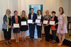 Award recipients at the Positioning Women for Success Project in Windsor-Essex