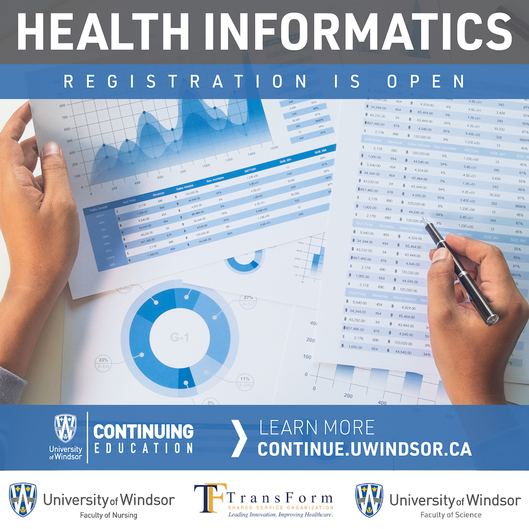 University of Windsor Health Informatics Flyer