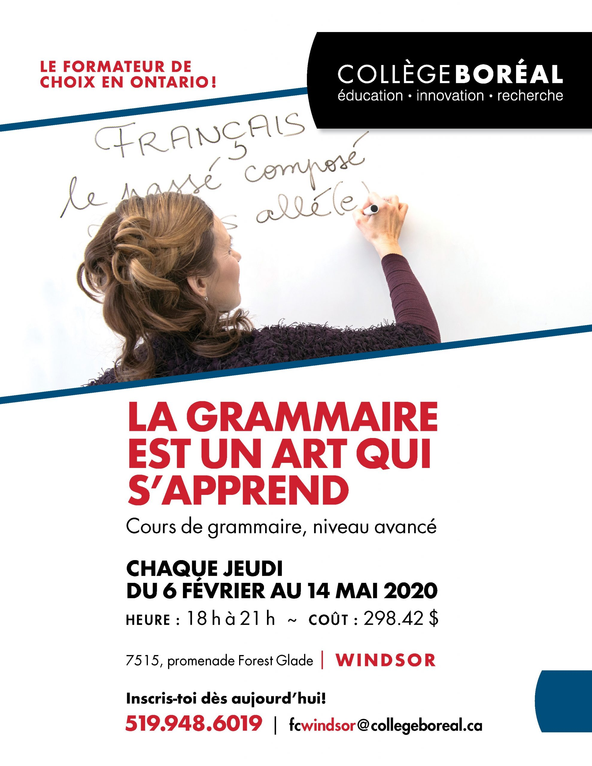 College Boreal Grammer Classes Flyer