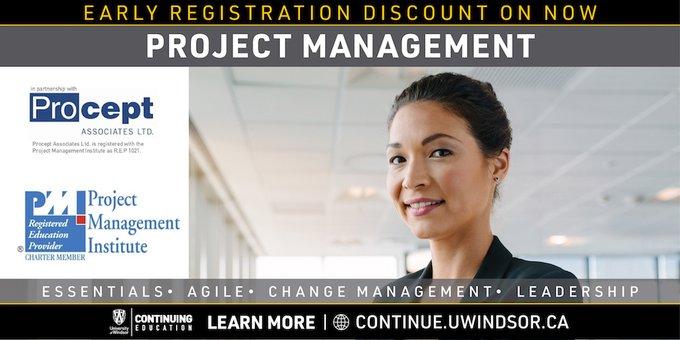 University of Windsor Project Management Flyer