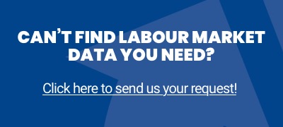 Advertisement for customized labour market data.