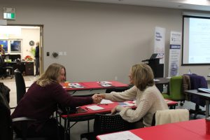 Attendees introduce themselves to one another at the Windsor-Essex Express Entry Event for Employers