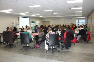 Windsor-Essex Express Entry Event for Employers Picture of All Attendees in Room