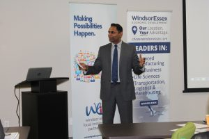 WEEDC COO Rakesh Naidu speaks at Windsor-Essex Express Entry Event for Employers