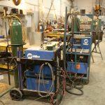Inside welding facility