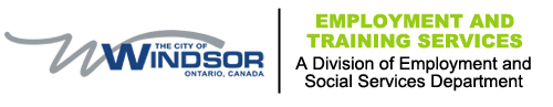 City of Windsor Employment and Training Services, a division of Employment and Social Services Department, logo
