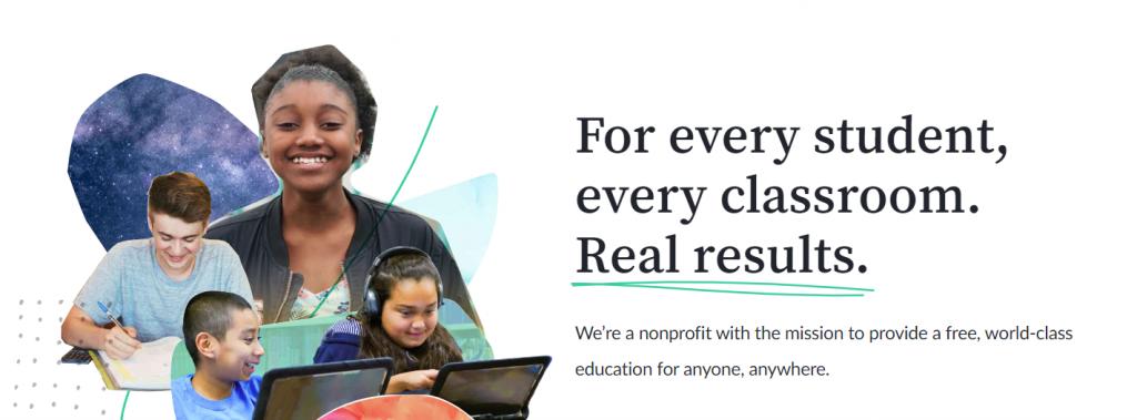 Khan Academy, children learning