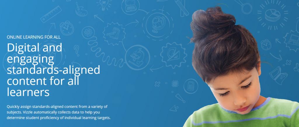 Vizzle website, child learning
